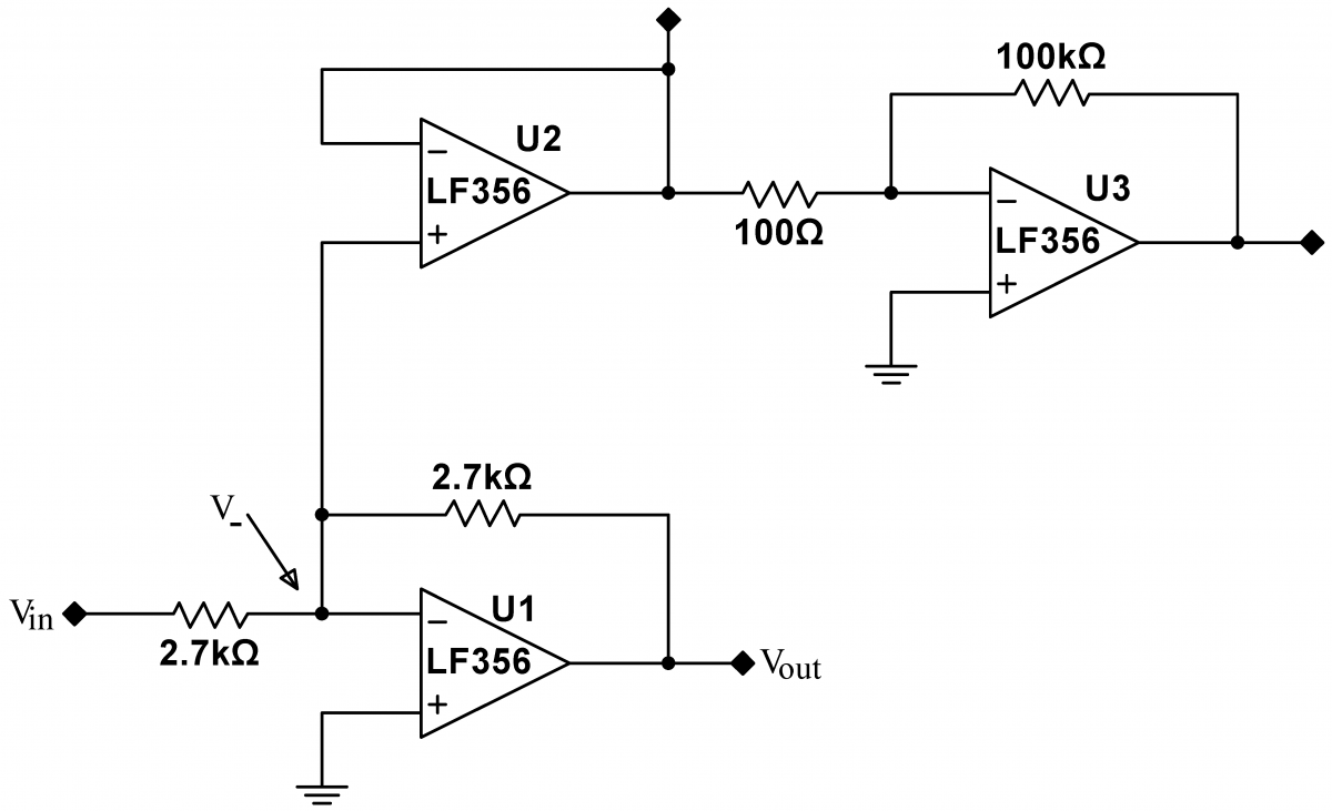 Lab 8 Op Amps Iii Instrumentation Voltage Follower Amp Circuit Open Loop Gain