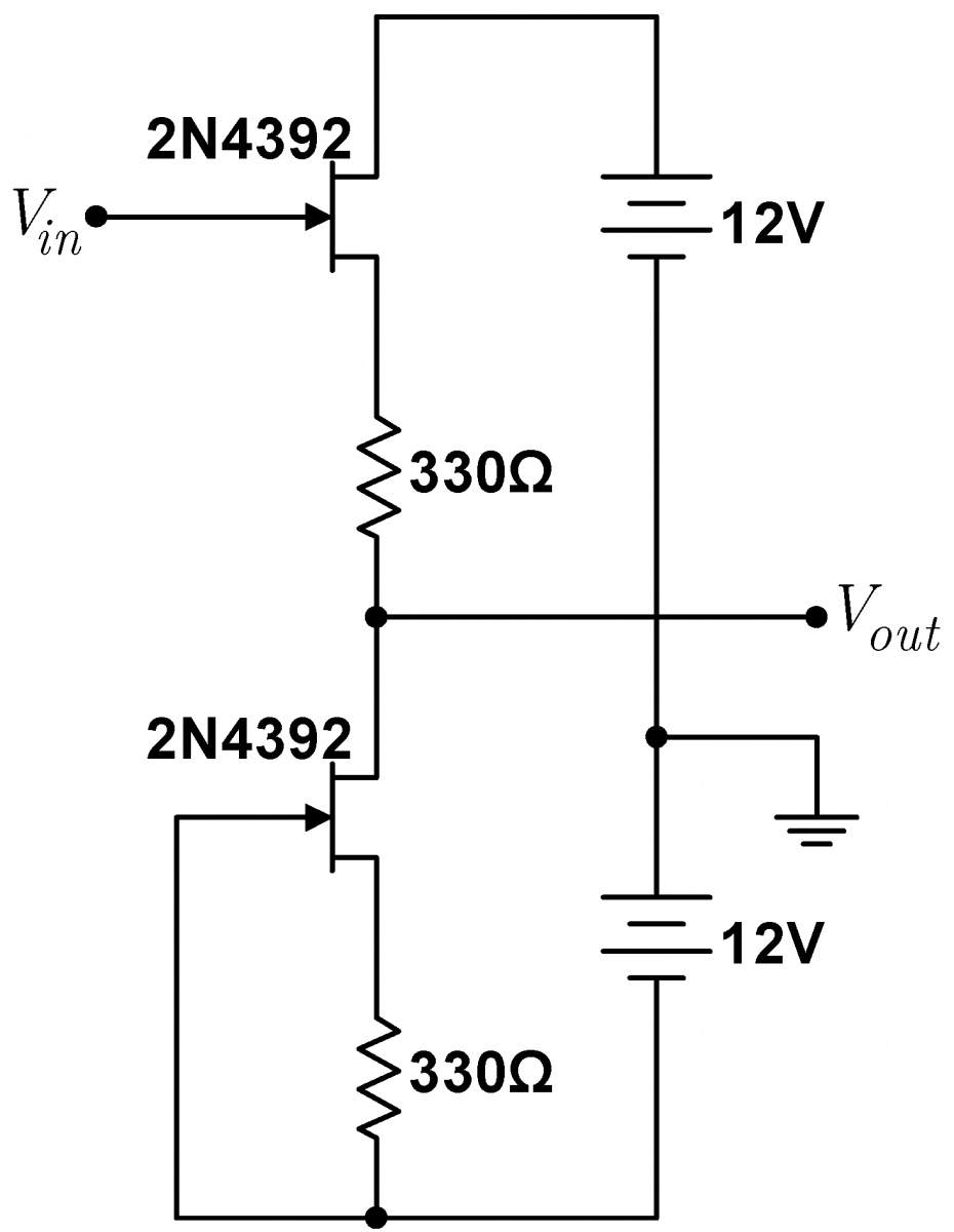 Lab 4 Jfet Circuits I Instrumentation Mosfet Tester Circuit Diagram Improved Follower Ii