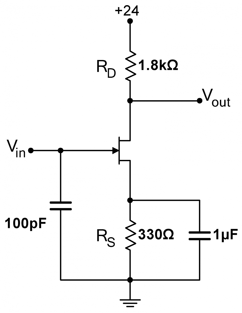 Lab 5 Jfet Circuits Ii Instrumentation Miniature Battery Is Used To Power The Circuit Two Transistors T1 And Amp Source Bypass