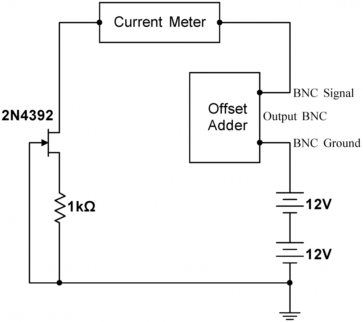 Lab 4 jfet circuits i instrumentation lab selfbiasedcurrentsourceag biocorpaavc Images
