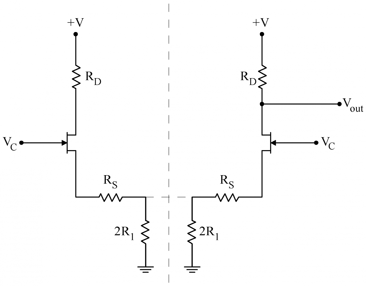Differential Amplifier Using Mosfet