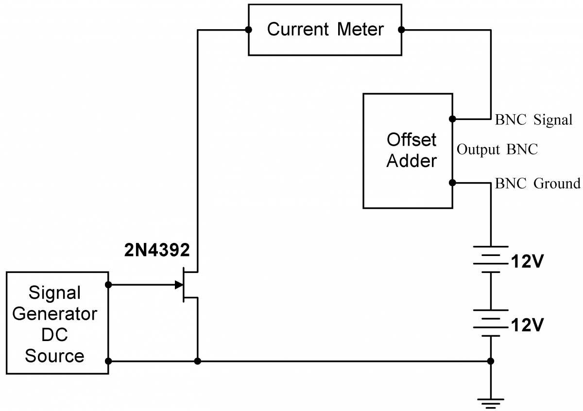Lab 4 Jfet Circuits I Instrumentation Constantcurrent Generator Externally Biased Current Sourc